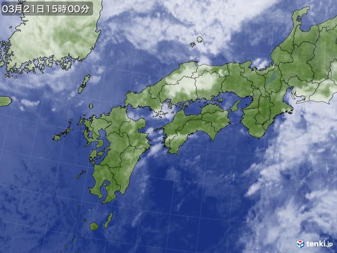 実況天気図(2018年03月21日)