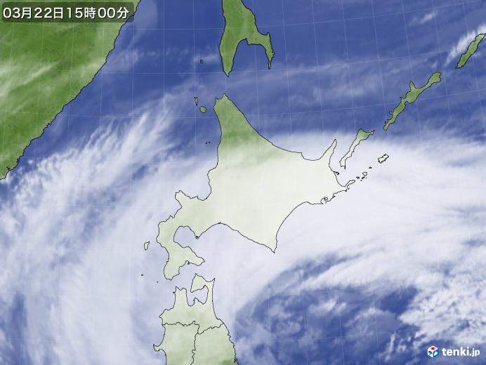 実況天気図(2018年03月22日)