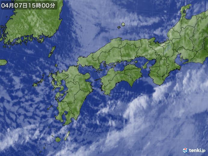 実況天気図(2018年04月07日)