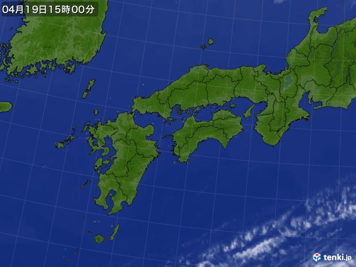 実況天気図(2018年04月19日)