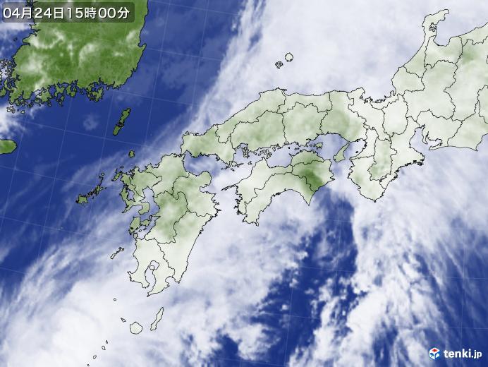 実況天気図(2018年04月24日)