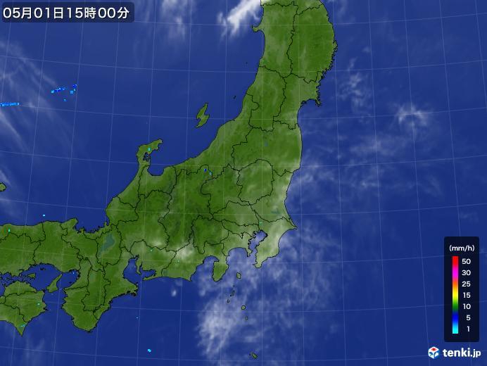 実況天気図(2018年05月01日)
