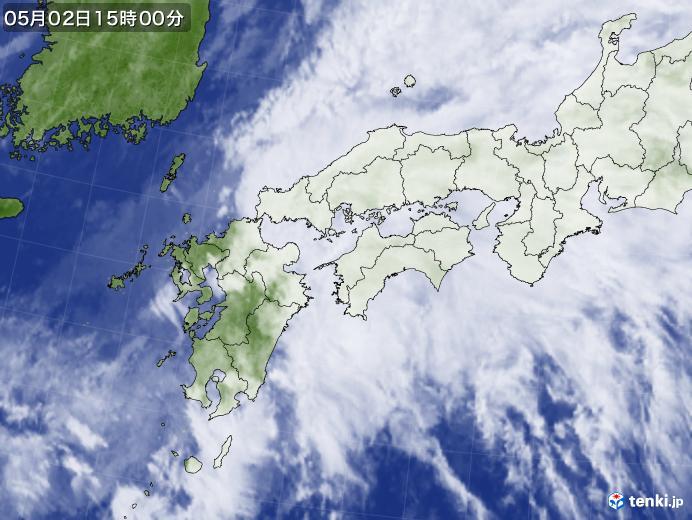 実況天気図(2018年05月02日)