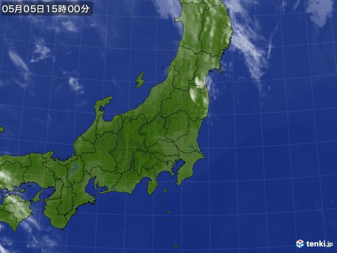 実況天気図(2018年05月05日)
