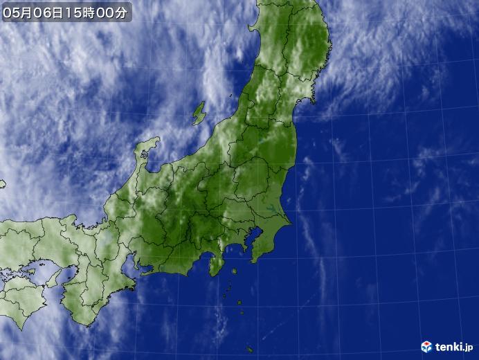 実況天気図(2018年05月06日)