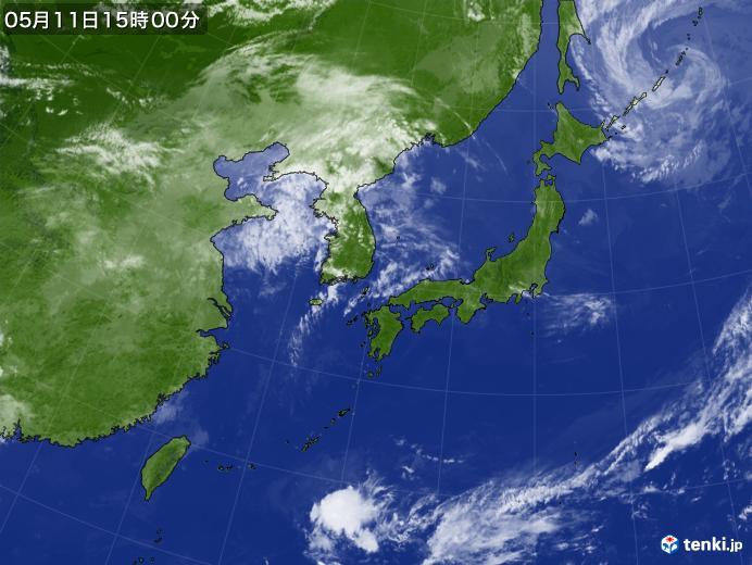 実況天気図(2018年05月11日)