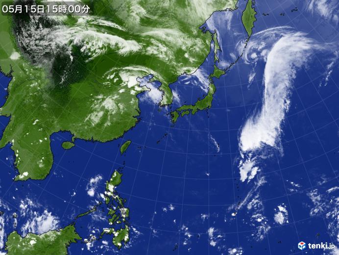 実況天気図(2018年05月15日)