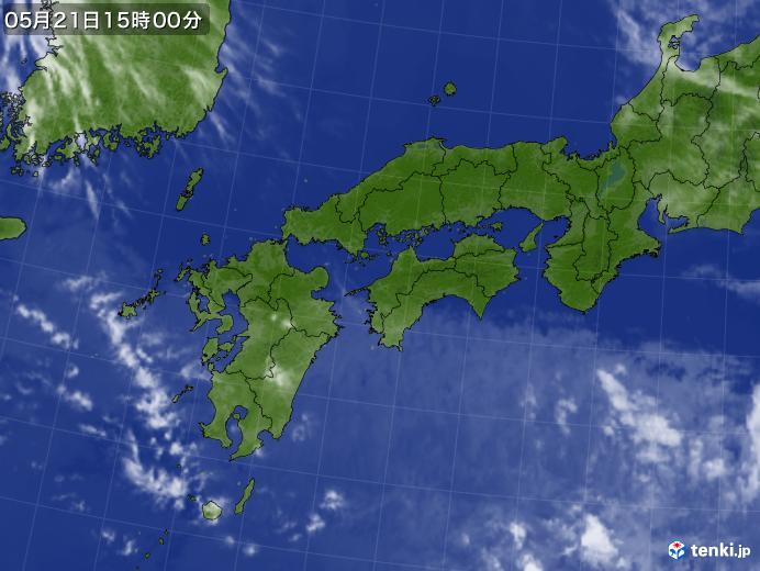 実況天気図(2018年05月21日)