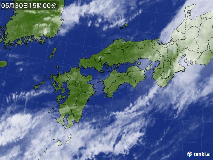 実況天気図(2018年05月30日)