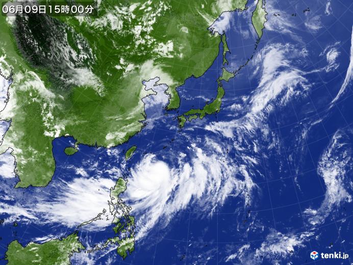実況天気図(2018年06月09日)