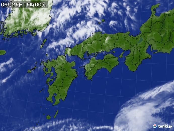 実況天気図(2018年06月25日)