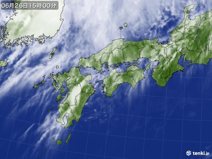 実況天気図(2018年06月26日)