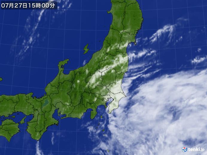 実況天気図(2018年07月27日)