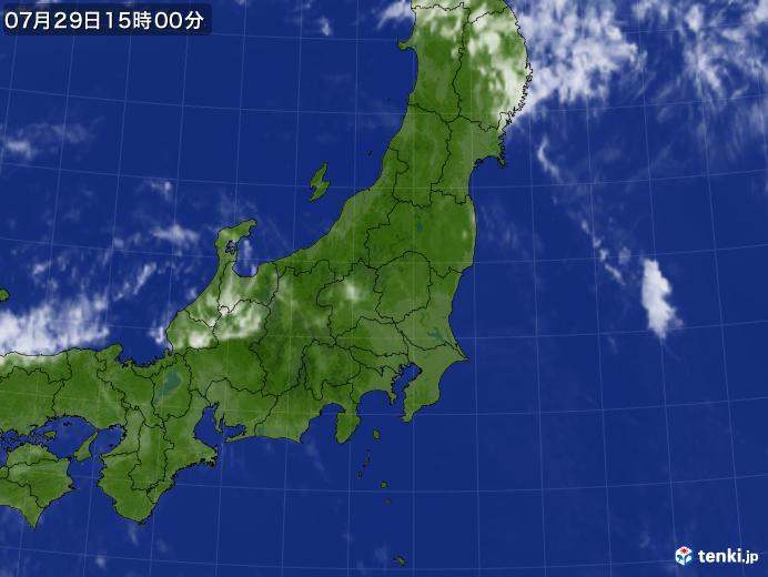 実況天気図(2018年07月29日)