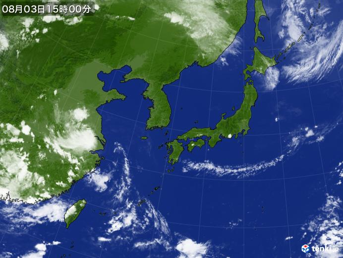実況天気図(2018年08月03日)