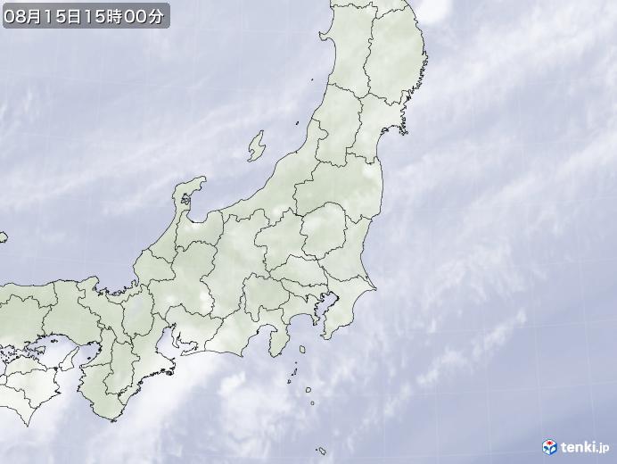 実況天気図(2018年08月15日)