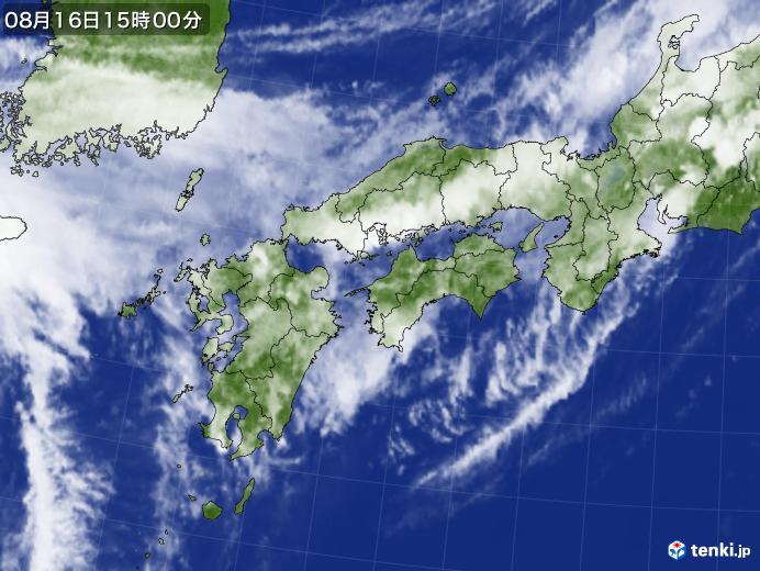 実況天気図(2018年08月16日)