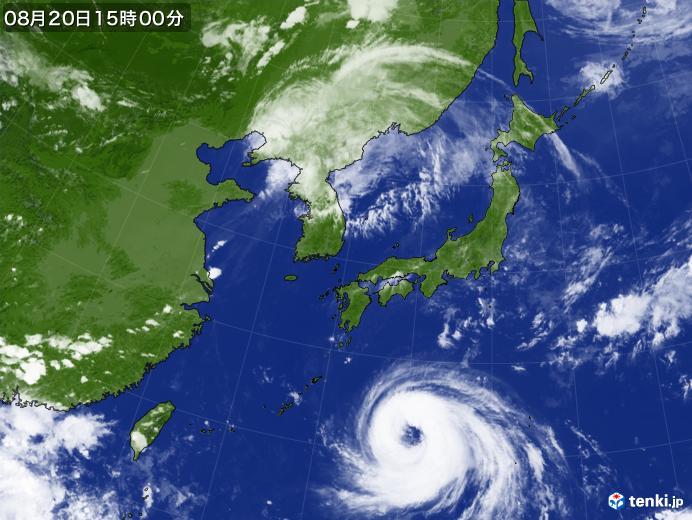 実況天気図(2018年08月20日)