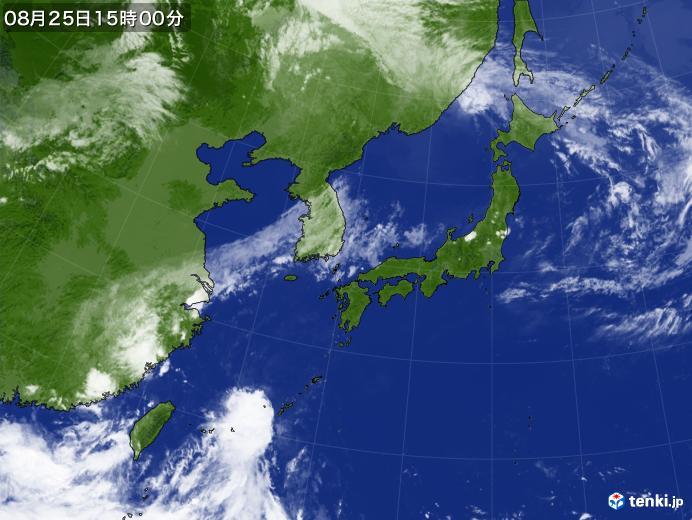 実況天気図(2018年08月25日)