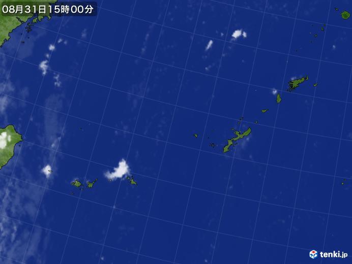 実況天気図(2018年08月31日)