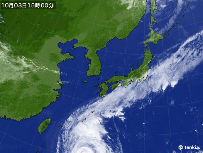実況天気図(2018年10月03日)