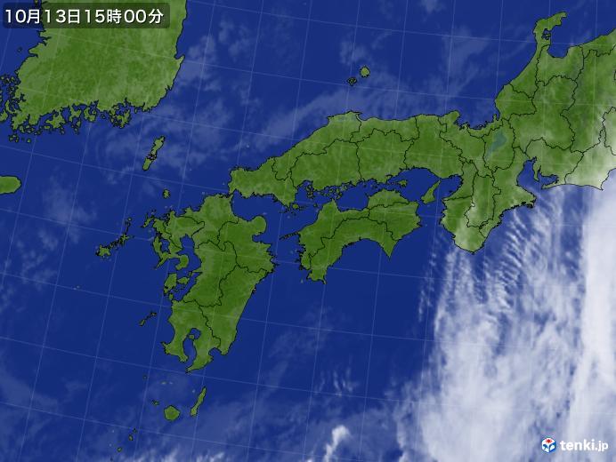 実況天気図(2018年10月13日)
