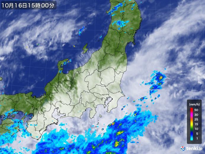 実況天気図(2018年10月16日)