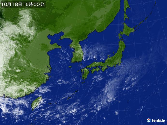 実況天気図(2018年10月18日)