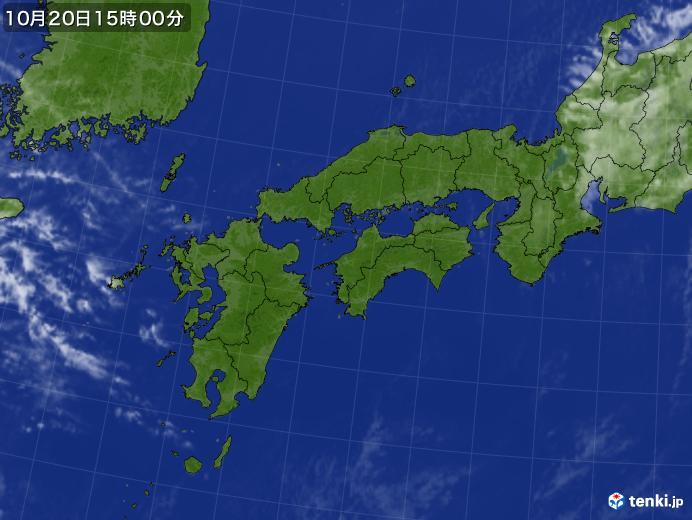 実況天気図(2018年10月20日)