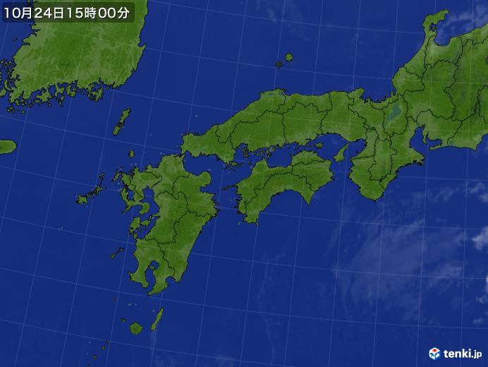 実況天気図(2018年10月24日)