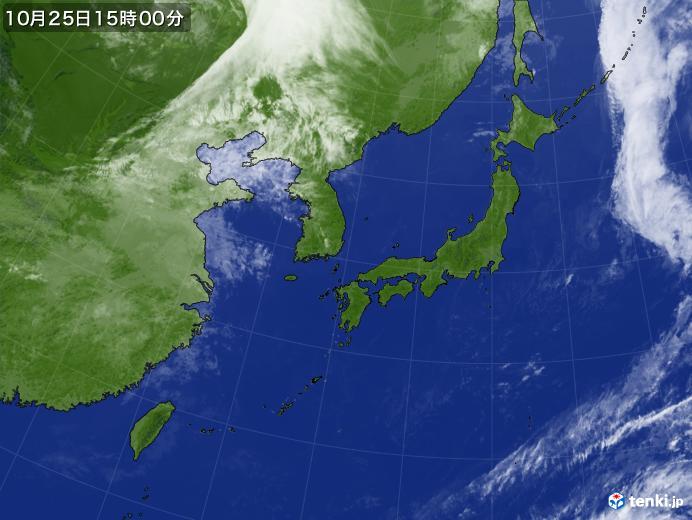 実況天気図(2018年10月25日)