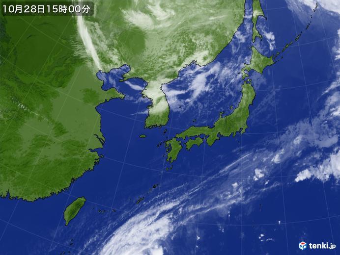 実況天気図(2018年10月28日)