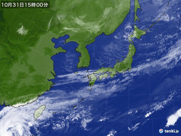 実況天気図(2018年10月31日)