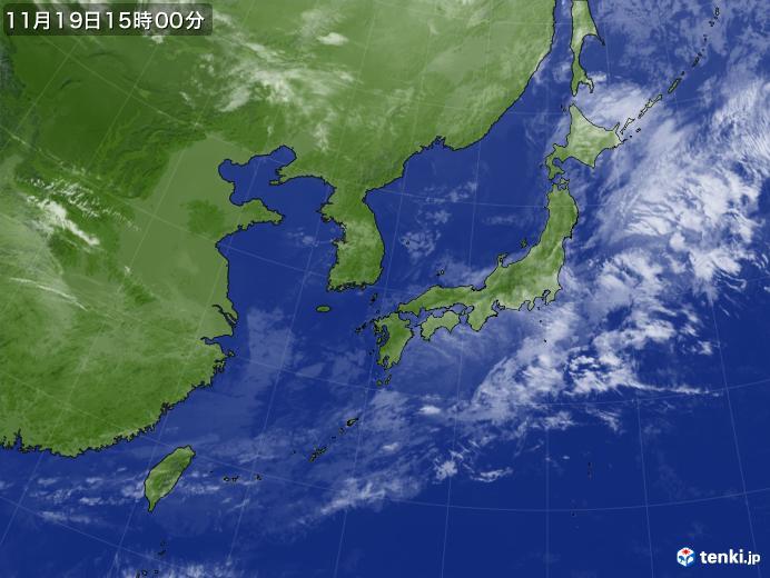 実況天気図(2018年11月19日)