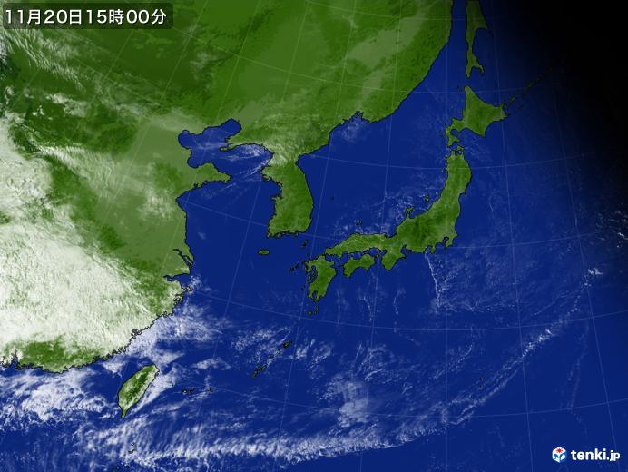 実況天気図(2018年11月20日)