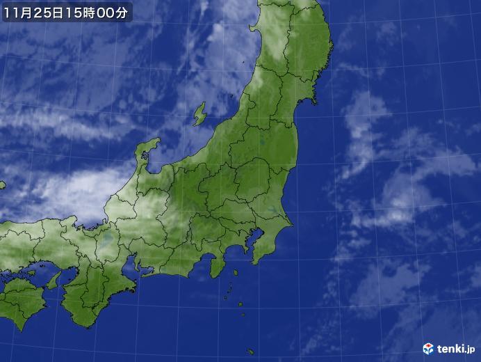 実況天気図(2018年11月25日)