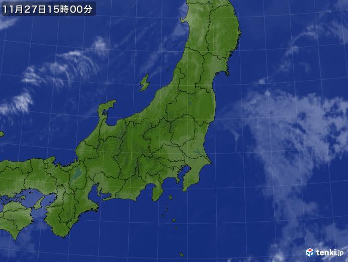 実況天気図(2018年11月27日)