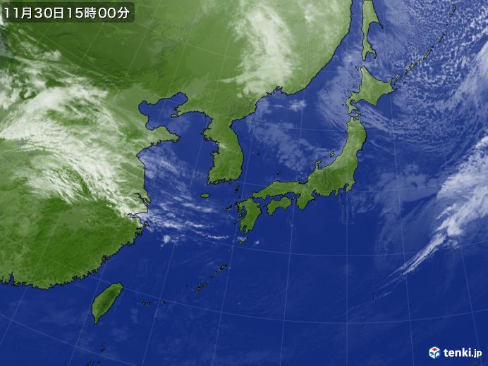 実況天気図(2018年11月30日)