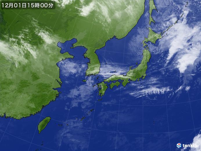実況天気図(2018年12月01日)
