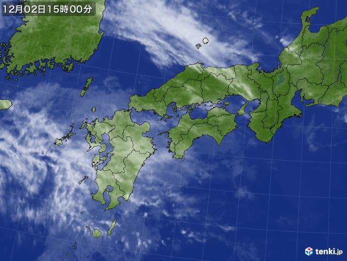実況天気図(2018年12月02日)