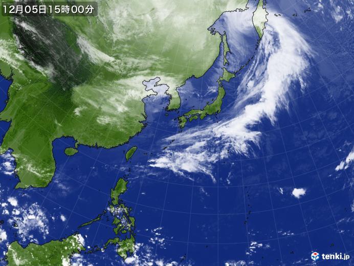 実況天気図(2018年12月05日)