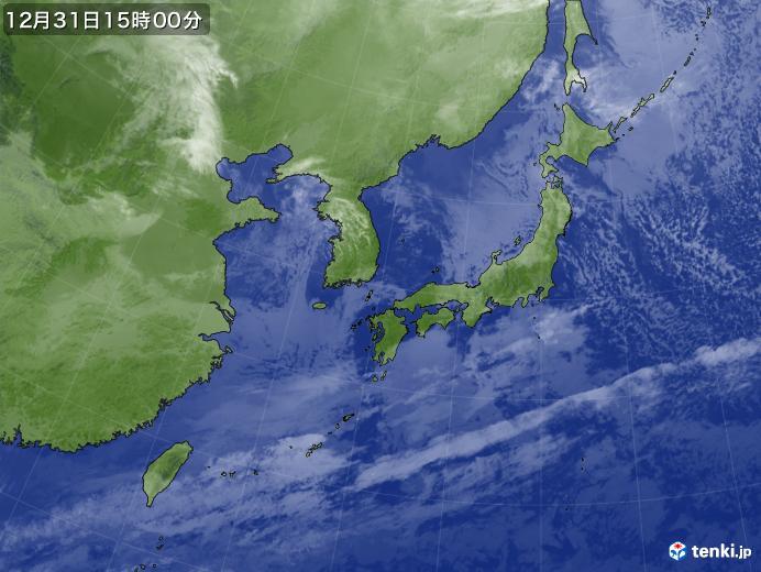 実況天気図(2018年12月31日)