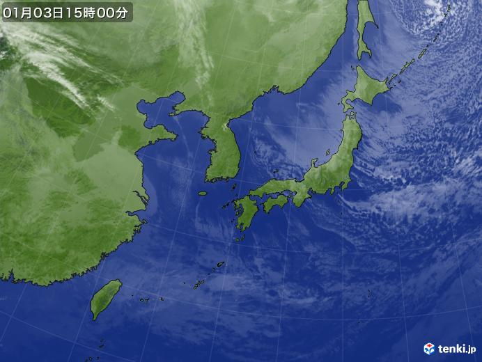 実況天気図(2019年01月03日)