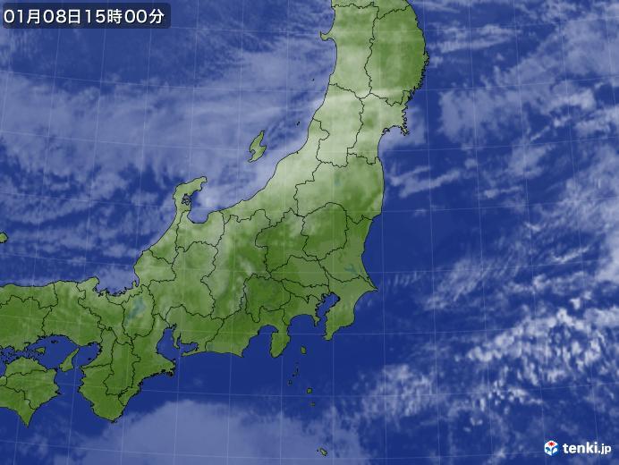 実況天気図(2019年01月08日)