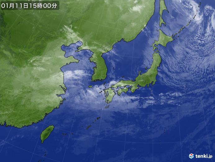 実況天気図(2019年01月11日)