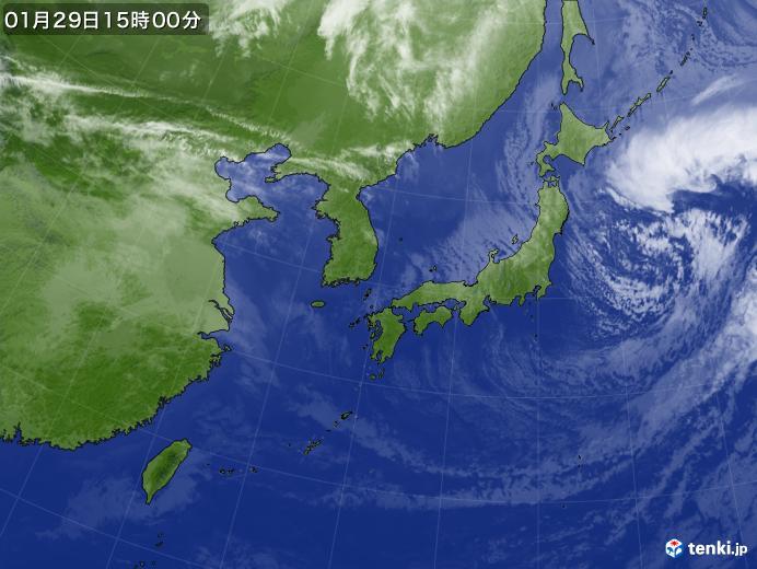 実況天気図(2019年01月29日)