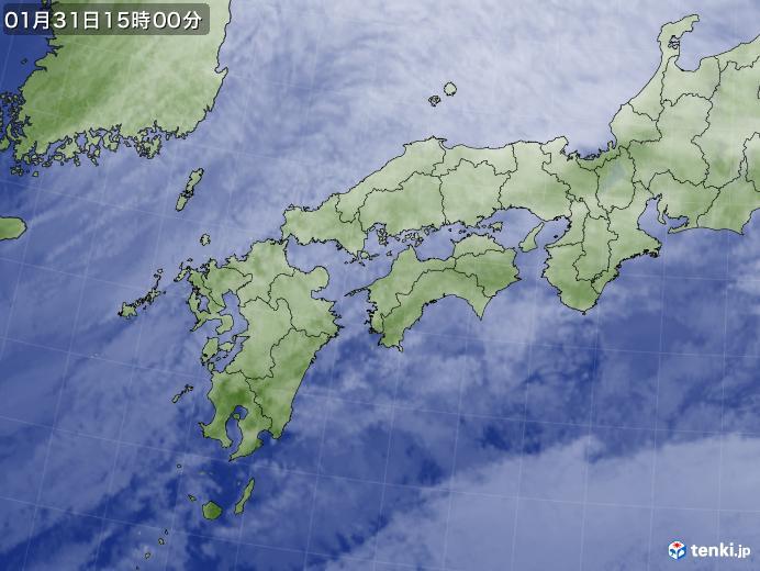 実況天気図(2019年01月31日)