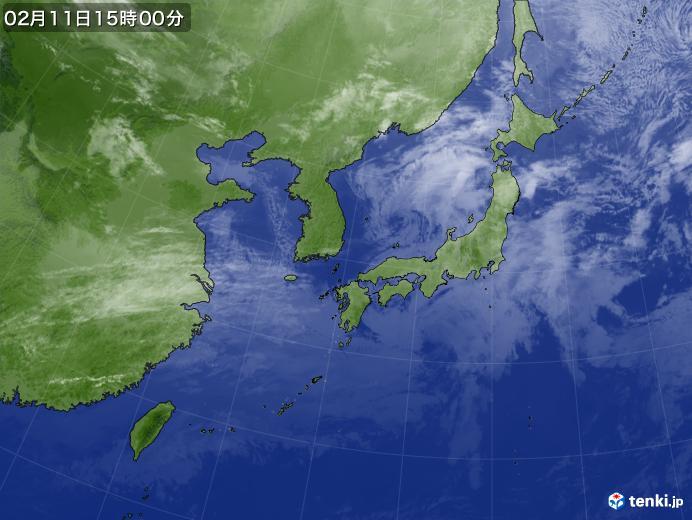 実況天気図(2019年02月11日)