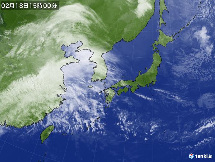 実況天気図(2019年02月18日)