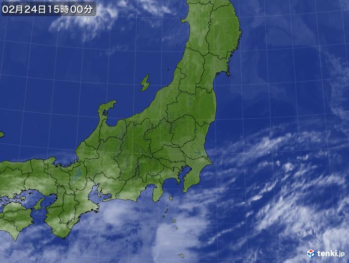 実況天気図(2019年02月24日)